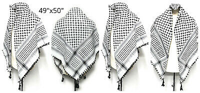 Big Authentic Nice Quality Arab Palestine Afghan Style Scarf Shemagh Yashmagh • 9.99£