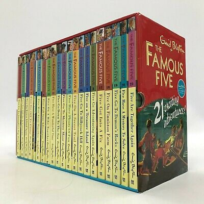 Enid Blyton The Famous Five 21 Exciting Adventures Book Set In Slip Case 231501 • 22£