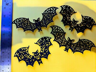 $ CDN3.84 • Buy Bats Halloween Die Cut Craft Embellishments, 8 Pack Two Designs, Room Decorate