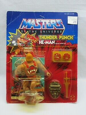 $475 • Buy MOTU,VINTAGE,THUNDER PUNCH HE-MAN,Masters Of The Universe,MOC,sealed,Unpunched