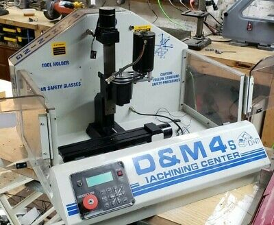 $1250 • Buy D&M4s / Sherline CNC Mill W/ Enclosure. #1 Morse Taper. 90VDC Spindle SEE VIDEO!