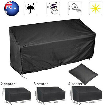 AU25.75 • Buy 2/3/4 Seater Bench Seat Cover Outdoor Garden UV Protection Waterproof Furnitue