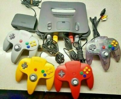 $ CDN191.96 • Buy UPGRADED Nintendo 64 N64 Console With 1 2 3 Or 4 Official OEM Remotes + Cables