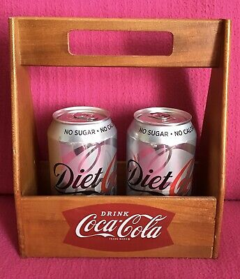 "Coca Cola Wooden Carry Crate For Cans Or Bottles 8.25"" Tall • 19.99£"