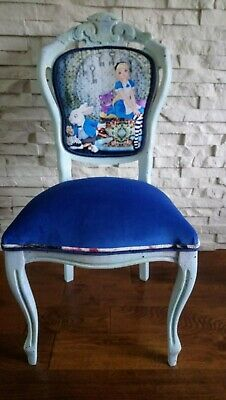 Shabby Chic French Carver Chair With Alice In Wonderland • 115£