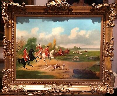 ROYAL HUNT OLD MASTER LATE 18th CENTURY CIRCLE Of GEORGE STUBBS   OIL PAINTING   • 18,000£
