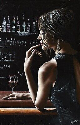 £34 • Buy In The Midnight Hour. Signed Fine Art Giclée Print Romantic Figurative Sexy Lady