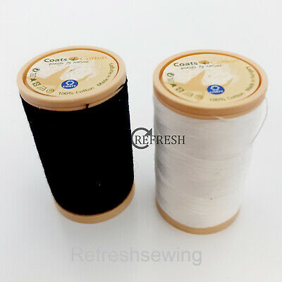 £3 • Buy Coats 100% Cotton Sewing Thread #50 200 Metre Spool Choice Of Black Or White