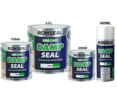 £34.95 • Buy Ronseal One Coat Damp Seal White Paint Permanently Covers & Blocks - 750ml 2.5L