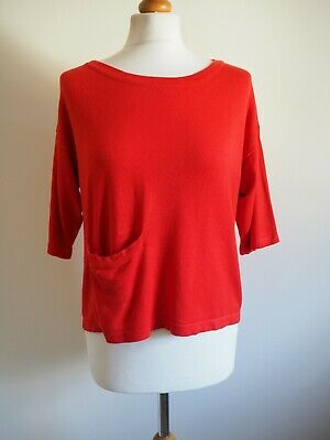 Jumper 8 10 Red Slouchy Fine Knit Fransa • 8.99£