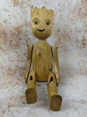 £14.95 • Buy Baby Groot Shelf Sitter 40cm Hand Carved Wooden Figure With Jointed Legs