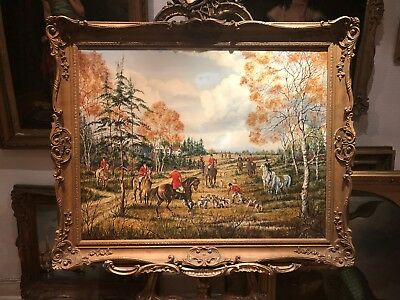 OIL PAINTING OLD LARGE BRITISH SCHOOL 20th CENTURY  BEAUTIFULLY EXECUTED PIECE • 2,795£