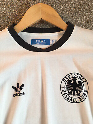 Men's Adidas Vintage Rare Germany Football Shirt Beckenbauer 5 Deutschland Small • 34.99£