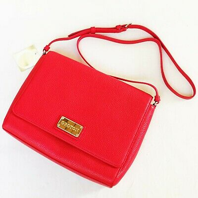 AU129 • Buy NEW Oroton Cross Body Woman Bag Messenger Pebble Leather Red Mystical Satchel