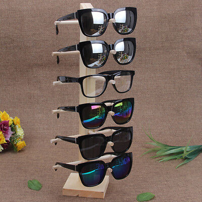 AU29.57 • Buy 6 Layers Wooden Sunglasses Eye Glasses Display Rack Stand Holder Organizer A