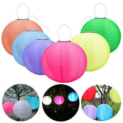 12in Waterproof LED Solar Cloth Chinese Lantern Festival Hanging Lamp Decor • 5.65£