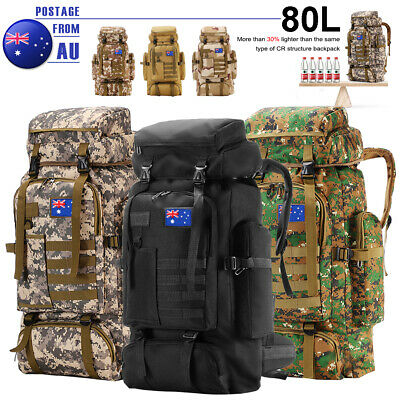AU39.99 • Buy 80L Military Tactical Rucksack Backpack Hiking Camping Outdoor Trekk Bag Travel