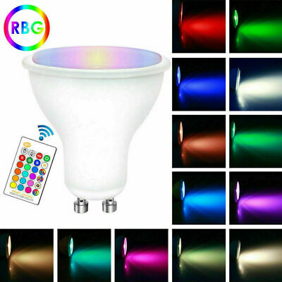 GU10 5W 16 Color Changing RGB Dimmable LED Spot Light Bulbs Lamp RC Remote • 12.69£