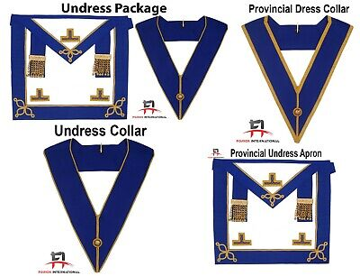 Masonic Regalia Craft Provincial Dress Apron And Collar PACKAGE (Leather) • 36.99£