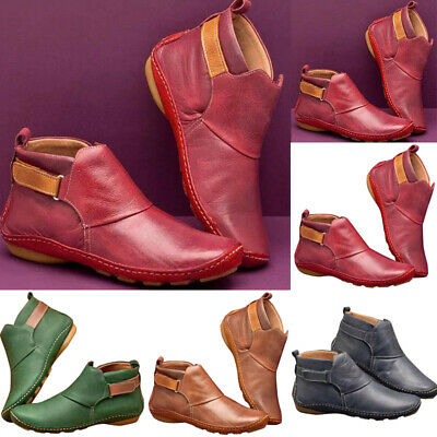 Hot Women's Winter Arch Support Ankle Boots Multi Colors Casual Flat-Heel Shoes  • 12.09£