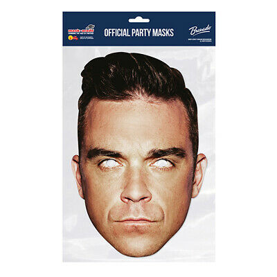 Robbie Williams TAKE THAT Celebrity  PARTY MASKS MASK FUNNY STAG CARDBOARD FACE  • 2.99£