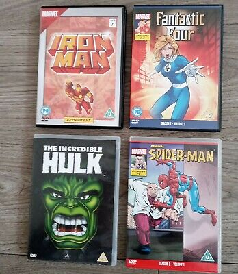 Marvel Original 90's Cartoon ANIMATION DVD Bundle. Spider-Man, Hulk, Iron Man • 9.50£