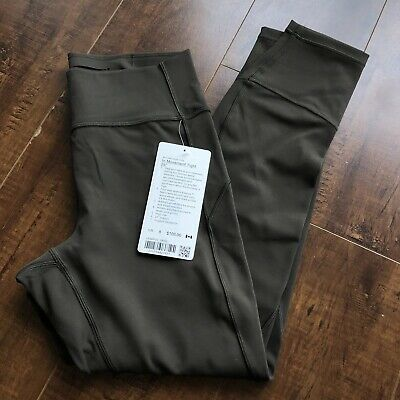 $ CDN120 • Buy Lululemon In Movement Tight 25  Size 8 Dark Olive Leggings NEW WITH TAGS!