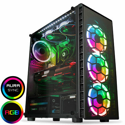 Quad Core  I7 Desktop Gaming Computer PC 2TB + SSD 16GB RAM GTX 1660 Win10 • 299.99£