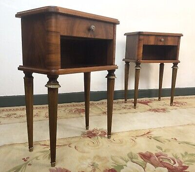 Vintage French Mahogany Cabinets Bedside Tables • 495£