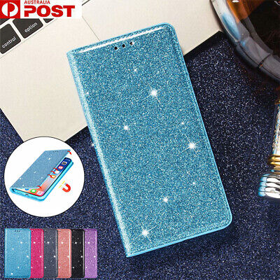 AU13.99 • Buy For Samsung S20 Ultra S10 E S9 S8 + Plus Case Glitter Leather Wallet Card Cover