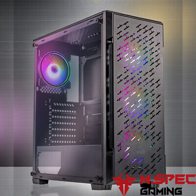 AU105 • Buy PC Case Gaming ATX Tempered Glass With 4x120mm ARGB Cooler Fan+Controller(TG304)