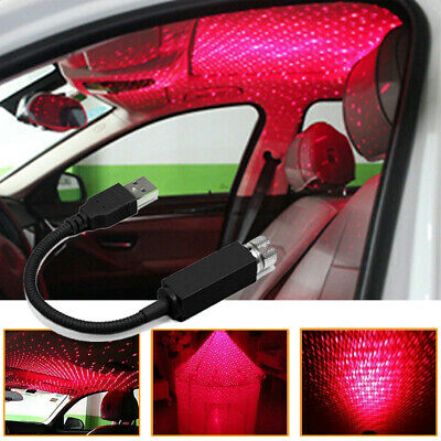 $10.49 • Buy USB Car Atmosphere Lamp Ambient Star Light LED Projector Lamp Accessories US