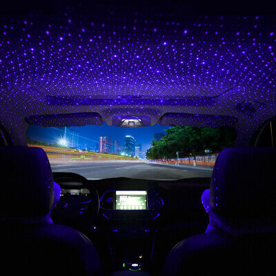 $8.45 • Buy USB Car Accessories Interior Atmosphere Star Sky Lamp Ambient Night Lights US
