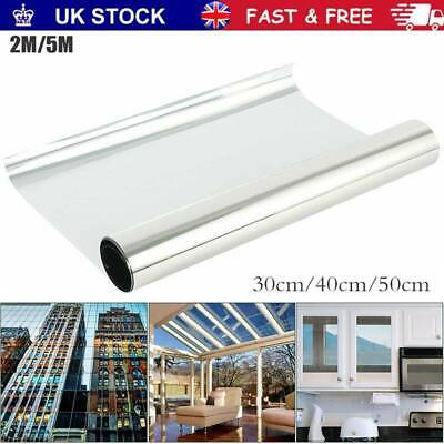 One Way Mirror Window Film Privacy Reflective Glass Sticker Effect Tint Home DIY • 6.55£