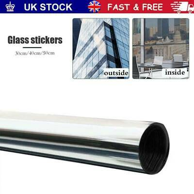 One Way Mirror Window Film Privacy Reflective Glass Sticker Effect Tint Home UK • 5.59£