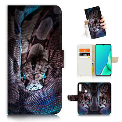 AU12.99 • Buy ( For Vivo Y12 / Y15 / Y17 ) Wallet Case Cover AJ23108 Snake