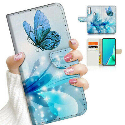 AU12.99 • Buy ( For Vivo Y12 / Y15 / Y17 ) Wallet Case Cover AJ23210 Blue Butterfly