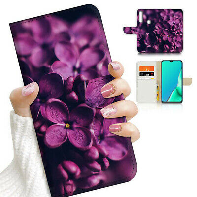 AU12.99 • Buy ( For Vivo Y12 / Y15 / Y17 ) Wallet Case Cover AJ23036 Purple Flower