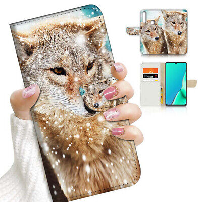 AU12.99 • Buy ( For Vivo Y12 / Y15 / Y17 ) Wallet Case Cover AJ23162 Snow Wolf
