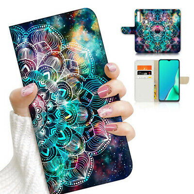 AU12.99 • Buy ( For Vivo Y12 / Y15 / Y17 ) Wallet Case Cover AJ23344 Mandala Space