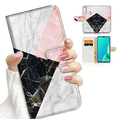 AU12.99 • Buy ( For Vivo Y12 / Y15 / Y17 ) Wallet Case Cover AJ23642 Black White Marble