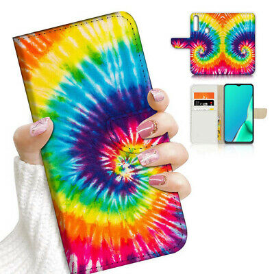 AU12.99 • Buy ( For Vivo Y12 / Y15 / Y17 ) Wallet Case Cover AJ23718 Tie Dye