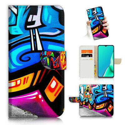 AU12.99 • Buy ( For Vivo Y12 / Y15 / Y17 ) Wallet Case Cover AJ23836 Graffiti