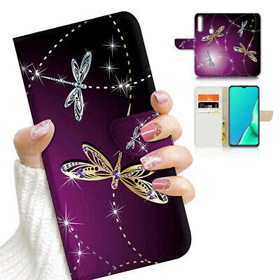 AU12.99 • Buy ( For Vivo Y12 / Y15 / Y17 ) Wallet Case Cover AJ23926 Purple Dragonfly