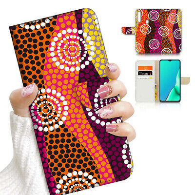 AU12.99 • Buy ( For Vivo Y12 / Y15 / Y17 ) Wallet Case Cover AJ23942 Aboriginal Art