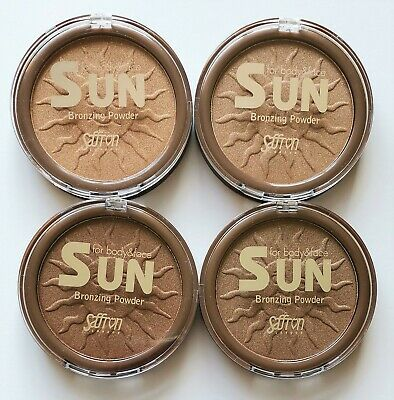 Saffron Sun Bronzing Powder Shimmering Bronzer For Face & Body • 3.99£