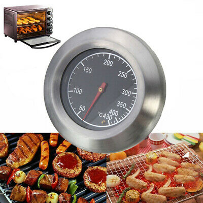 Barbecue Thermometer Temperature Gauge BBQ Smoker Grill 50-500°C Stainless Steel • 7.15£