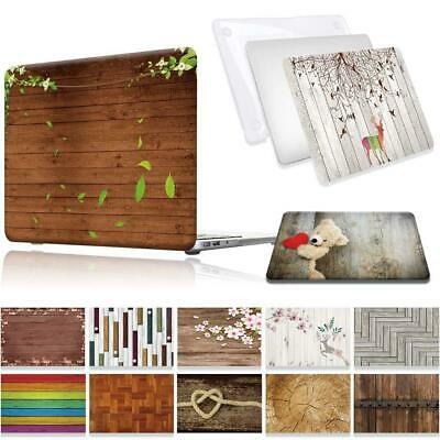 Wood Laptop Shell Case Cover For Apple MacBook Air Pro Retina 11 12 13 15 16 • 6.99£