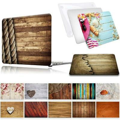 For Apple MacBook Air Pro Retina 11 12 13 15 16 - Wood Laptop Shell Case Cover • 10.99£