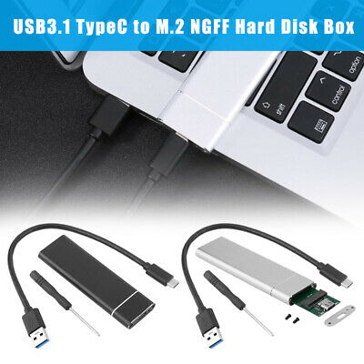 AU25.56 • Buy USB 3.1 Type C To M.2 PCIe NGFF SSD Enclosure Adapter Hard Disk Box For SATA SSD
